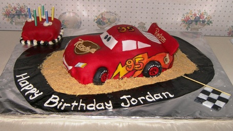 Lightning McQueen Birthday Cake Kitchen Scrapbook