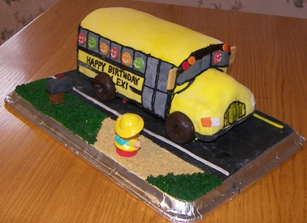 Admirable School Bus Birthday Cake Happy 7Th Birthday Lexi Kitchen Personalised Birthday Cards Cominlily Jamesorg