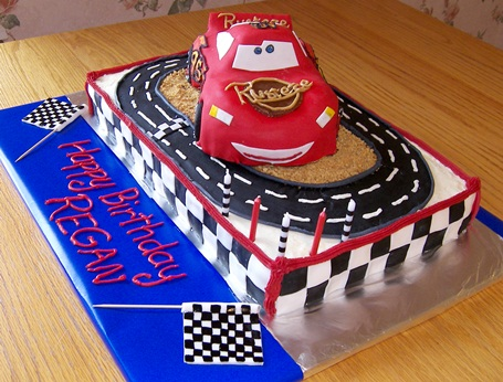 Lightning McQueen Cake Happy Birthday Regan Kitchen Scrapbook