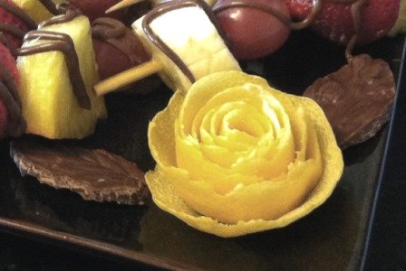lemon rose chocolate leaves