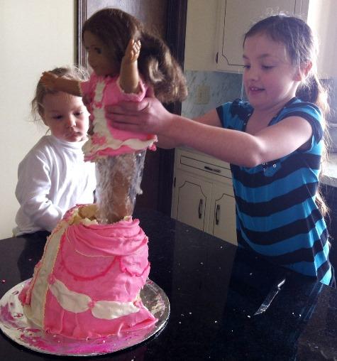 Surprising American Girl Doll Birthday Cake Kitchen Scrapbook Personalised Birthday Cards Paralily Jamesorg