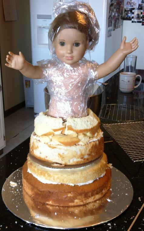 american girl doll cake1