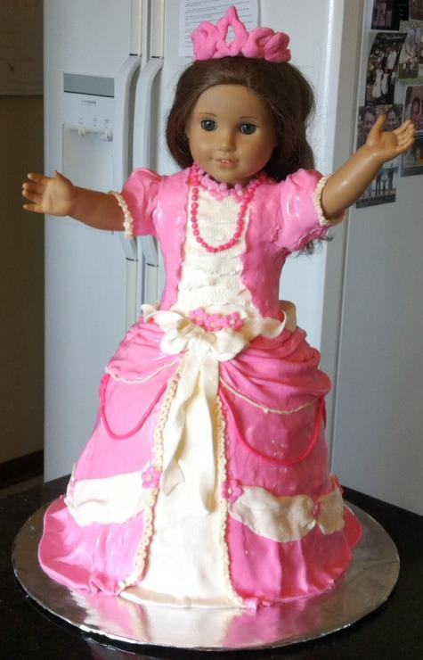 american girl doll cake4