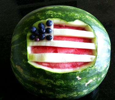 4th of july flag watermelon bowl3