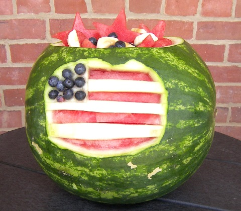 4th of july watermelon bowl