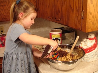 making monster cookies